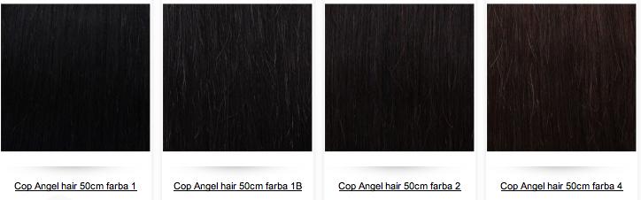 Cop H H TOP HAIR 50cm - ľudské vlasy s ukončením  5718e01b4f5