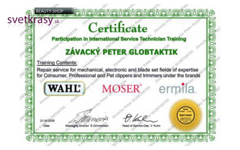 Vlastníme medzinárodný certifikát na servis MOSER 5f1e1746b7d